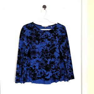 Rebecca Taylor Embossed Velvet Top, Size XS